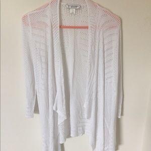 Women's White Cardigan Petite XL